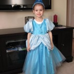 Our client's daughter in her custom birthday dress.