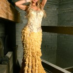 Shredded silk layered mermaid couture design (LeBra Photography)