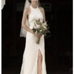 Soft corded lace mermaid wedding dress