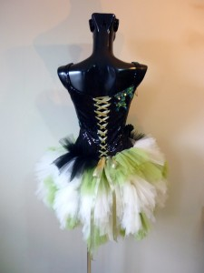 RTWC53 - victorian corset/laces micro sequin with tulle tutu bottom, 550$