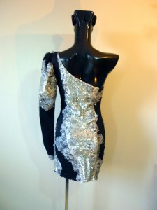 RTWC54 - embroidered sequin on stretch taffeta, 600$